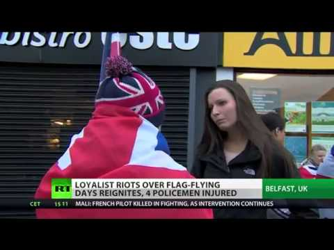 Flag Fury Police injured in Belfast as 'Union Jack' protests reignite