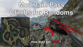 Xans Climbing  Mountain Pass 1  Climbs for Randoms