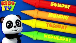 Days Of The Week   Baby Bao Panda   Nursery Rhymes & Baby Songs - Kids TV