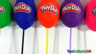 Play-doh Superhero Ice Cream Surprise Eggs Lollipops Learn Colors Childrens Baby Finger Family