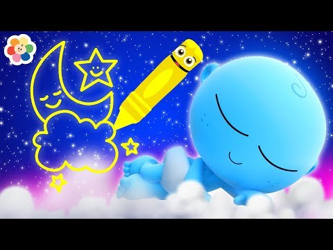 GooGoo Baby Draws the Night Sky | Coloring Pages for Kids by BabyFirst
