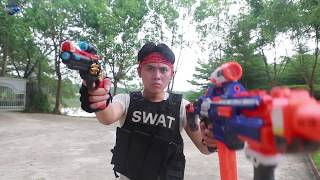 Nerf Guns War: S.W.A.T Girl Of SEAL TEAM Special Uses Tactics Fight The Criminals Group