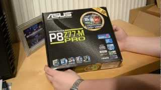 Asus P8Z77 M Pro Mainboard - Unboxing German HD | The Computer Artists
