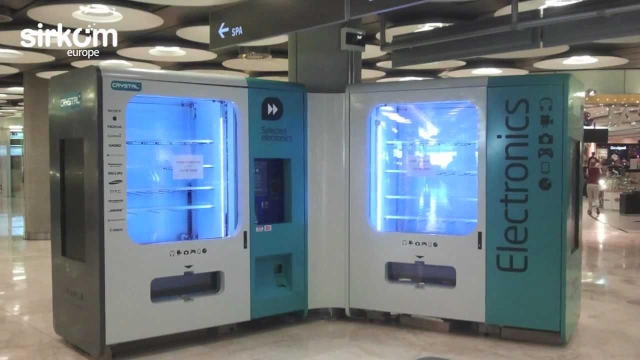 Custom Vending Machine Automat With Digital Signage