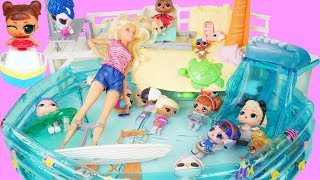 LOL Family in Barbie Pool Surf Routine with Punk Boi Wave 2