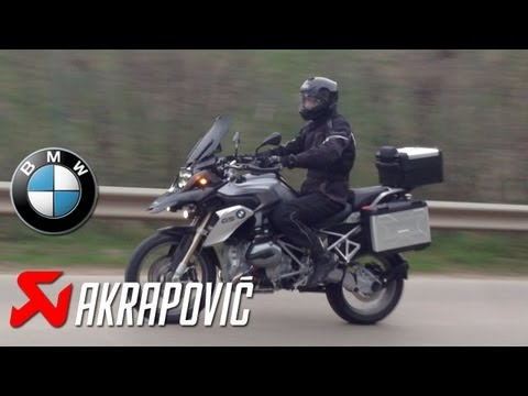 BMW R 1200 GS LC (2013) Akrapovic Sport Exhaust Sound vs. Standard Exhaust