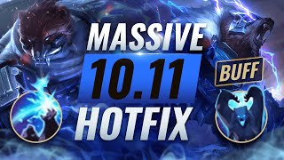 MASSIVE HOTFIX BUFFS: Volibear Rework EMERGENCY Changes Patch 10.11 - League of Legends Season 10