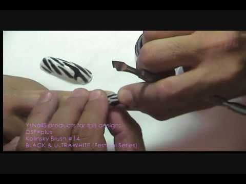 YenisAbella Creadora de DUAL SYSTEM FORMS ZEBRA NAILS PART 1 YsNailS  FREETutorials