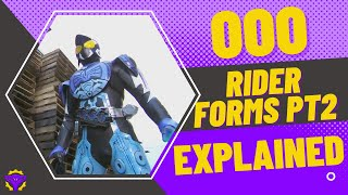Kamen Rider OOO: Rider Forms Pt2 EXPLAINED
