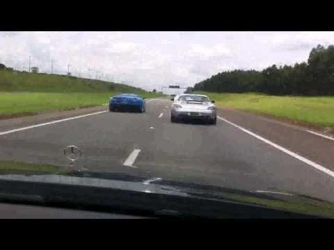 Bugatti veyron vs Bugatti EB110 vs SLS vs S63 amg  (BRASIL!!!!!)  HD