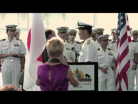 Japan Maritime Self Defense Force Welcoming Ceremony
