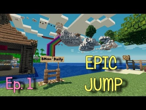 Minecraft - Epic Jump Parkour Custom Map w/ Daily Part 1
