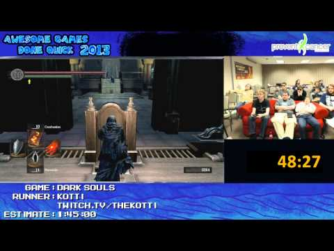 Dark Souls - SPEED RUN in 1:27:15 by Kotti (Awesome Games Done Quick 2013) PC