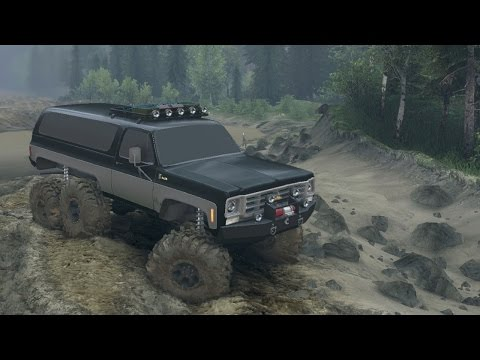 Spintires Mods - 1975 Chevy K5 BLAZER Equipped 6×6