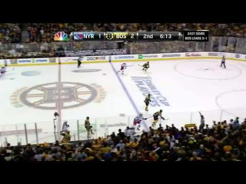 Gregory Campbell snaphot goal 2-1 May 25 2013 NY Rangers vs Boston Bruins NHL Hockey