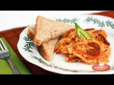 Rizses lecsó videó recept (Hungarian Lecho with Rice)
