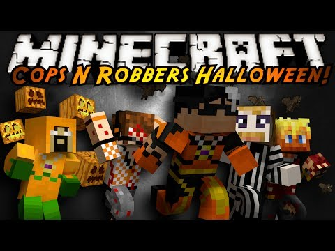 Minecraft Mini-Game : COPS N ROBBERS! (HALLOWEEN SPECIAL!)