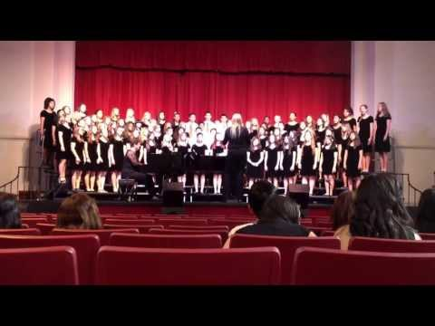 Amelia Earhart Middle School sings at the Forum Festival at Fullerton College