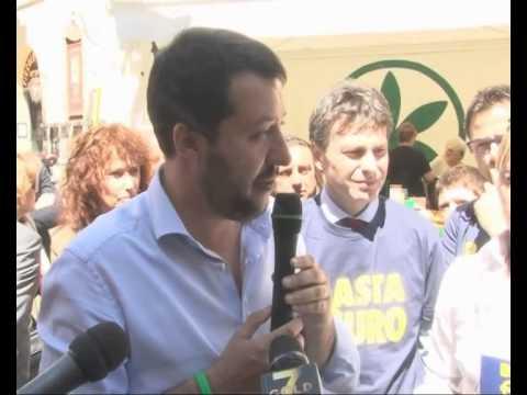 CONFERENZA STAMPA A MILANO 15052014 MATTEO SALVINI