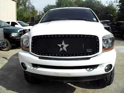 2008 DODGE 3500 4X4 6 SPEED DUALLY- LIFTED- ROCK STAR ...