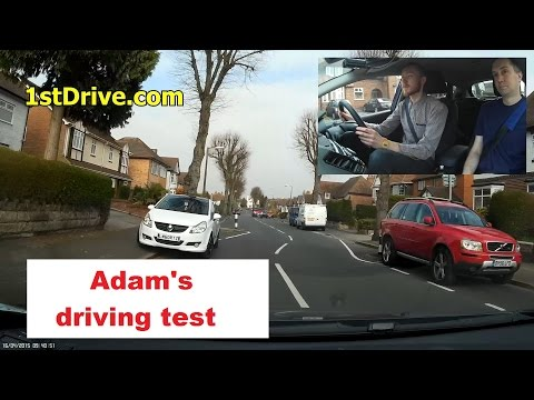 Adam's mock driving test in Kings Heath, Birmingham