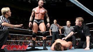 The Miz vs Randy Orton Raw Sept 16 2013