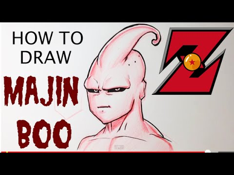 How to Draw Majin Boo - Dragonball Z - Easy Things to Draw