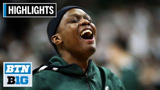 Highlights: Winston Sets B1G Record for Assists | Wisconsin at Michigan State | Jan. 17, 2020