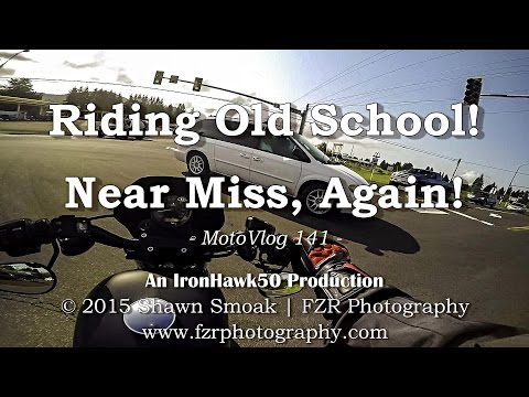 Riding Old School! - Near Miss, Again! | Iron 883 | MotoVlog 141
