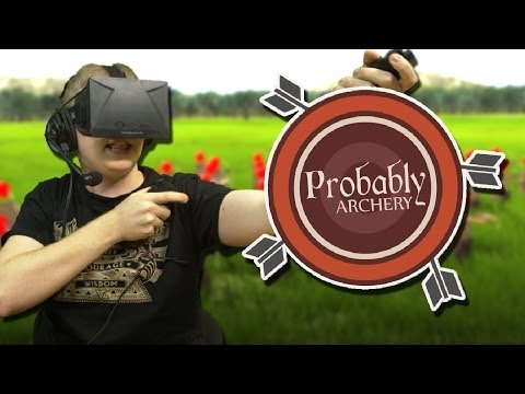 Probably Archery with Oculus Rift + Razer Hydras