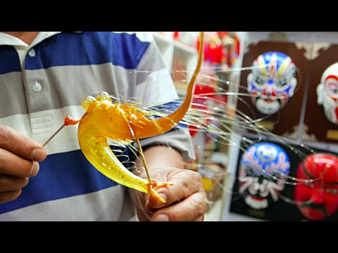 Chinese Sugar Art Blowing Animals: Shrimp