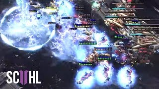 THE PERFECT DEFENSE!  - Starcraft 2: Showtime vs Dark