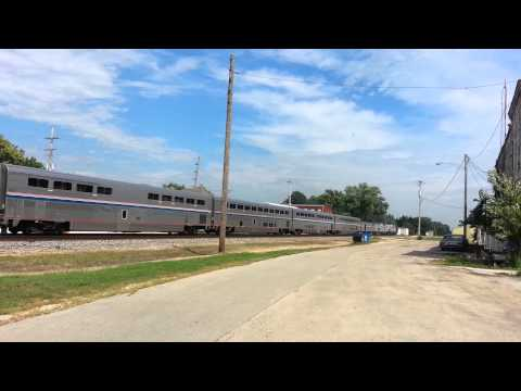 EB Amtrak Southwest Chief at Earlville, IL