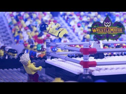 WWE Wrestlemania 34: Seth Rollins vs. The Miz vs. Finn Bálor   Lego Highlights