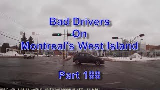 Bad Drivers on Montreal's West Island Part 188