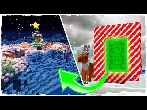 HOW TO MAKE A PORTAL TO CHRISTMAS DIMENSION - MINECRAFT