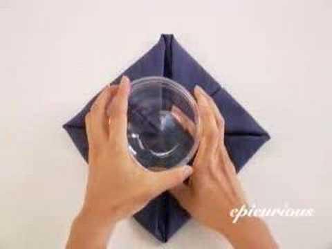 Pan am Lotus Flower Napkin Fold Lotus Napkin Fold