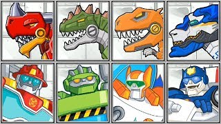 Dino Robot Corps + Dino Island Rescue Bots - Full Game Play
