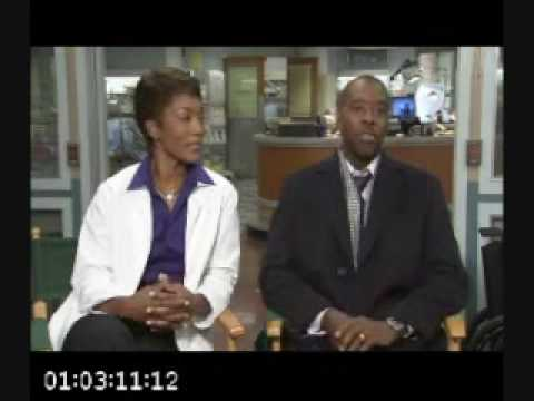 Angela Bassett Courtney B. Vance ER Interview