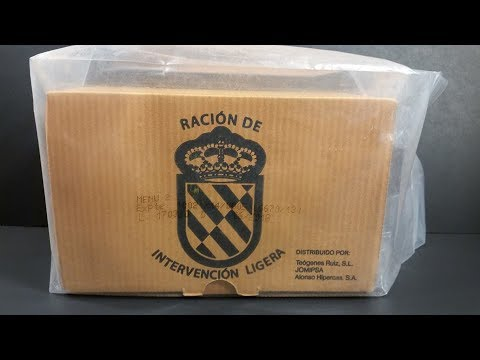 2018 Spanish RIL Lightweight Intervention Ration MRE Review Meal Ready to Eat Taste Testing