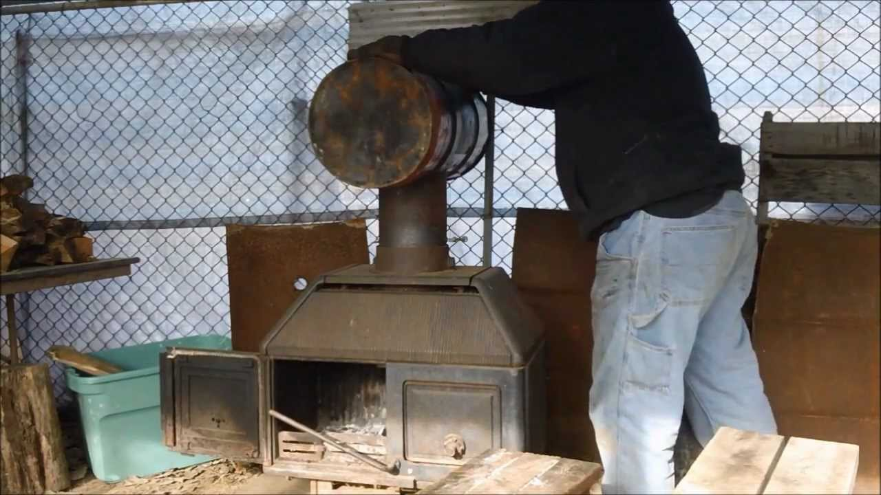 Homemade Baffled Heat Exchanger For My Wood Stove Youtube