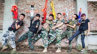 LTT Nerf War : SQUAD SEAL X Warriors Nerf Guns Fight Attack Criminal Group High Tech