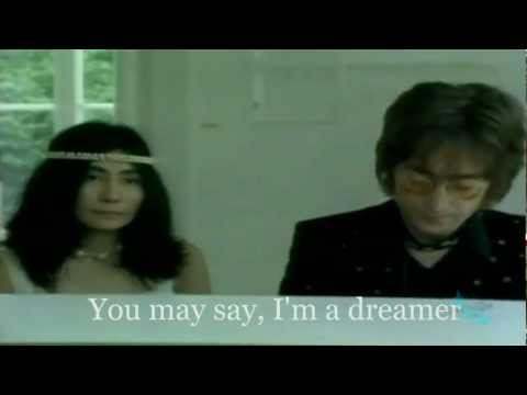 John Lennon - IMAGINE (720p-Official Video+Lyrics on Screen)