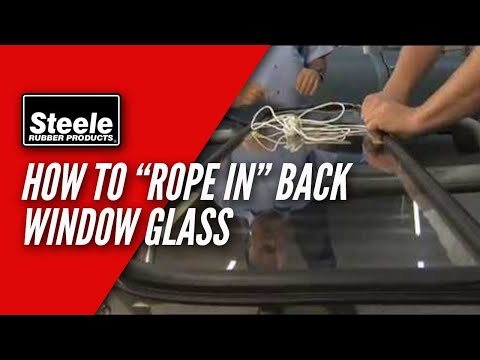 How to replace back window glass seal with cord