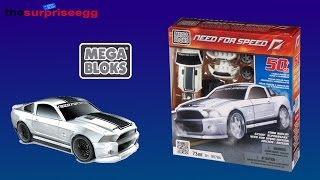 MEGA BLOKS NEED FOR SPEED Ford Shelby GT500 SuperSnake Edition unboxing toys