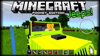 INCREIBLES CARROS NUEVOS EN MINECRAFT PE 1.0 - JEEPS ADDON - ADDONS POCKET EDITION
