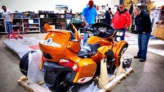 2014 Can-Am Spyder RT-S Assembly & Test Ride!  | ShopTalk