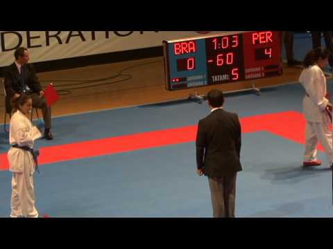 2009 WKF Jr Worlds -21 Women -60 Kg Aka Peru vs Ao Brazil