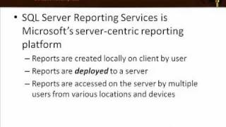 What is Reporting Services? (Part 1)
