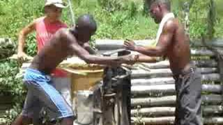 Cuba - Extraction du jus de canne a sucre